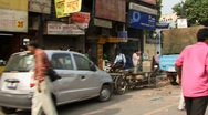 Stock Video Footage of Drive down Chandni Chowk, Old Delhi