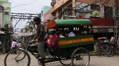 Rickshaws in India - stock footage