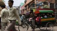 Rickshaws in India Stock Footage
