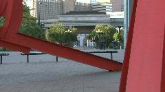 Modern Art Metal Sculpture  Stock Footage