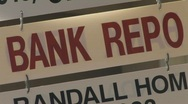 Bank Repo sign Stock Footage