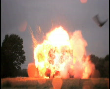 Car Explosion, PAL 16:9 Stock Footage