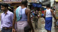 Busy Indian streets (w/sound) Stock Footage