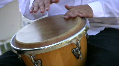 Drumming on conga drum 2  Stock Footage