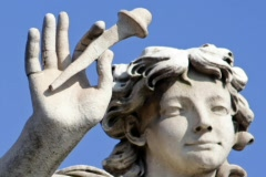 Angel Statue in Rome - Italy Stock Footage