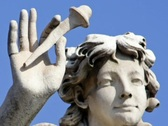 Stock Video Footage of Angel Statue in Rome - Italy