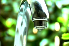 Slow Dripping Faucet - stock footage