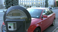 Expired Parking Meter 1 Stock Footage