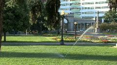 Sprinklers In The Park 2 - stock footage