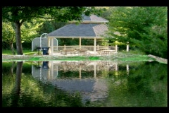 Gazebo By The Water Stock Footage