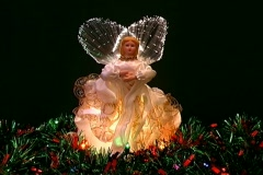 Golden Christmas angel Stock Footage