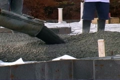 Pouring cement slab Stock Footage