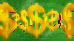 Stock Video Footage of Money background