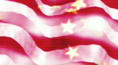 American flag abstact Stock Footage
