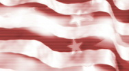 American flag abstract  Stock Footage