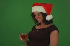 Woman Christmas Toast 3 Stock Footage