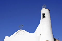 Italy -Sardinia - Stella Maris Church, Porto Cervo Stock Footage