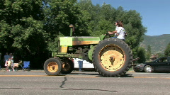 Parade Lamb Day tractor M HD Stock Footage
