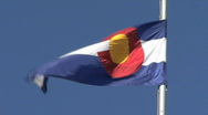 Colorado State Flag Stock Footage