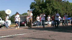 Parade Lamb Day High School band M HD Stock Footage