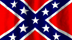 Confederate battle Flag Stock Footage