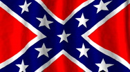Stock Video Footage of Confederate battle Flag