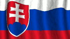 Slovakia flag Stock Footage