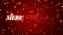 Merry Christmas Background Stock Footage