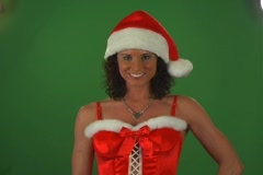 Merry Christmas from a Beautiful Brunette Stock Footage