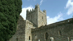 Jerpoint Abbey - stock footage