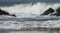 Waves Crash 3 Stock Footage