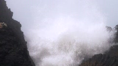 Waves Crash 1 Stock Footage