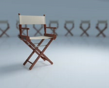 Director's chair - stock footage