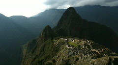 Machu Picchu Panorama Stock Footage