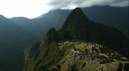 Stock Video Footage of Machu Picchu Panorama
