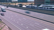 Stock Video Footage of Freeway and Metro Traffic Time Lapse