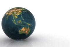 Earth globe,seamless loop Stock Footage