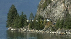 Whistler Mountaineer Howe Sound Stock Footage