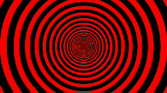 Target Tunnel Retro Spiral Animation Loop - Red & Black - stock footage