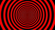 Target Tunnel Retro Spiral Animation Loop - Red & Black Stock Footage