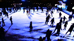 Night Ice Skating Stock Footage