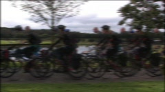 Cycle Multiple Pass - stock footage