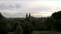 Kelvingrove Art Gallery Glasgow Scotland Zoom In Stock Footage