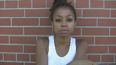 Young girl smoking. Stock Footage