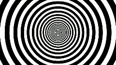 Target Tunnel Retro Spiral Animation Loop - White & Black Stock Footage