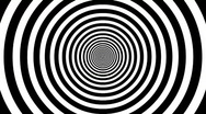 Stock Video Footage of Target Tunnel Retro Spiral Animation Loop - White & Black
