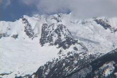 Tantalus Glacier pan Stock Footage
