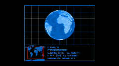 Earth Tracking System v0.2 - Europe ( HD1080) Stock Footage
