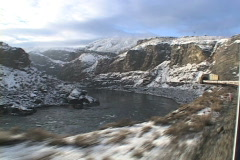 Winter N Thompson from train Stock Footage