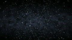 Flying Through a Starfield (25fps) Stock Footage